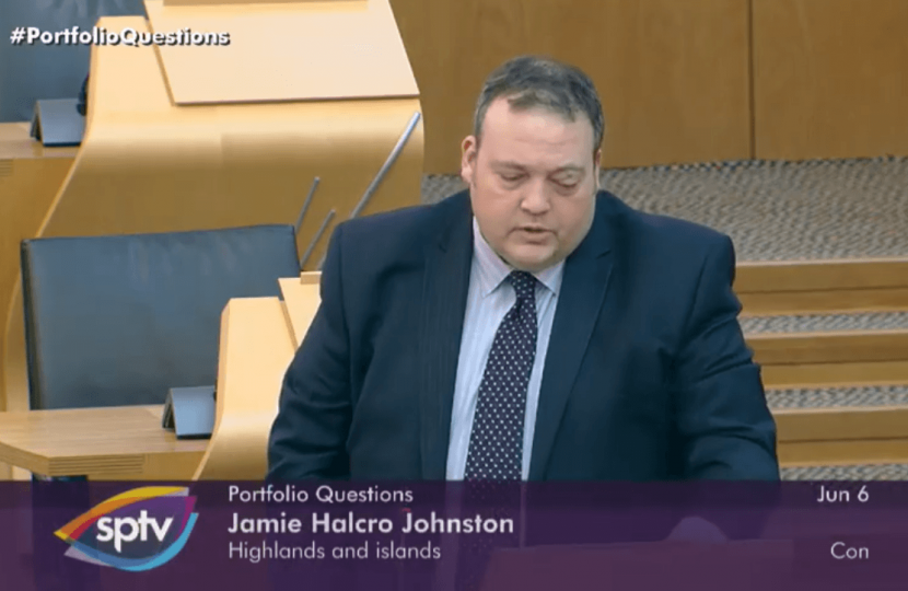Jamie speaking in the chamber